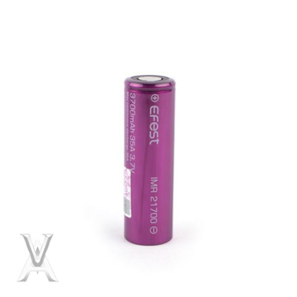 Efest (Purple) IMR 21700 (3700mAh) 35A 3.7v Battery Flat-Top