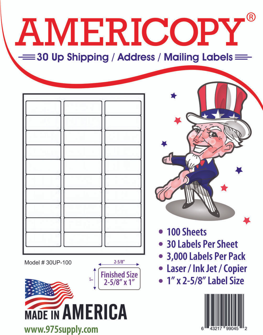 americopy labels 30 up labels 1 x 2 5 8 30 labels per sheet