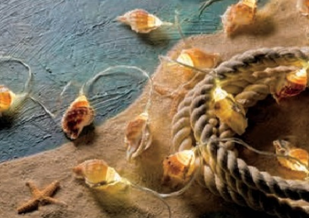 String Lights - Large Seashell