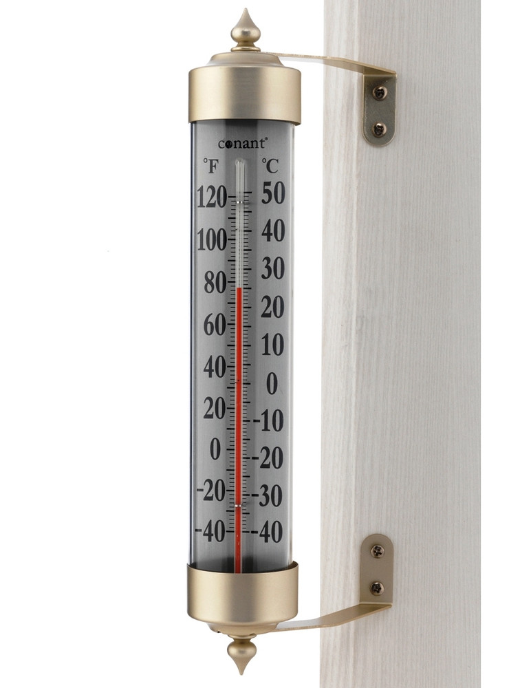 Vermont Grande View Thermometer - Satin Nickel