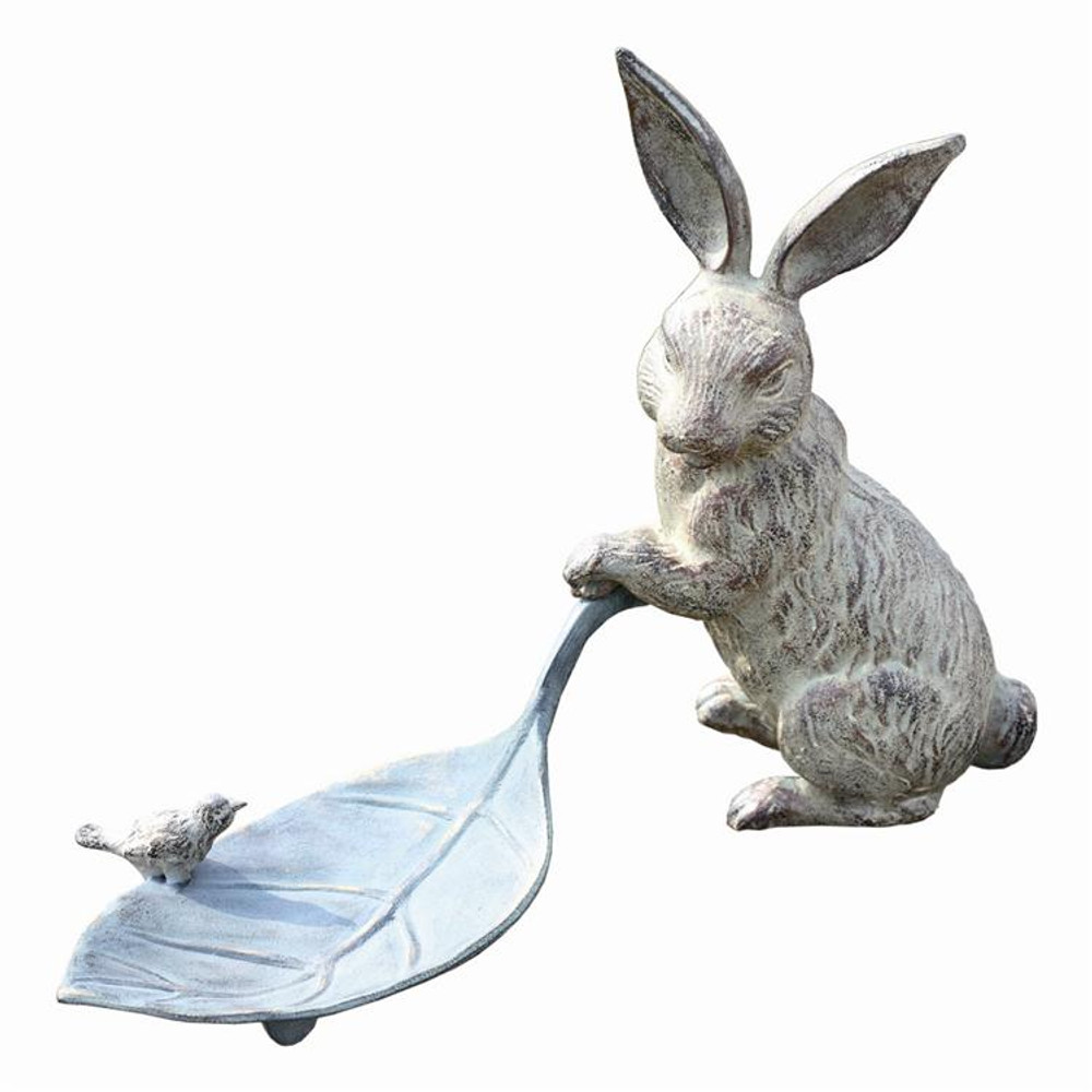 Rabbit and Leaf Bird Feeder