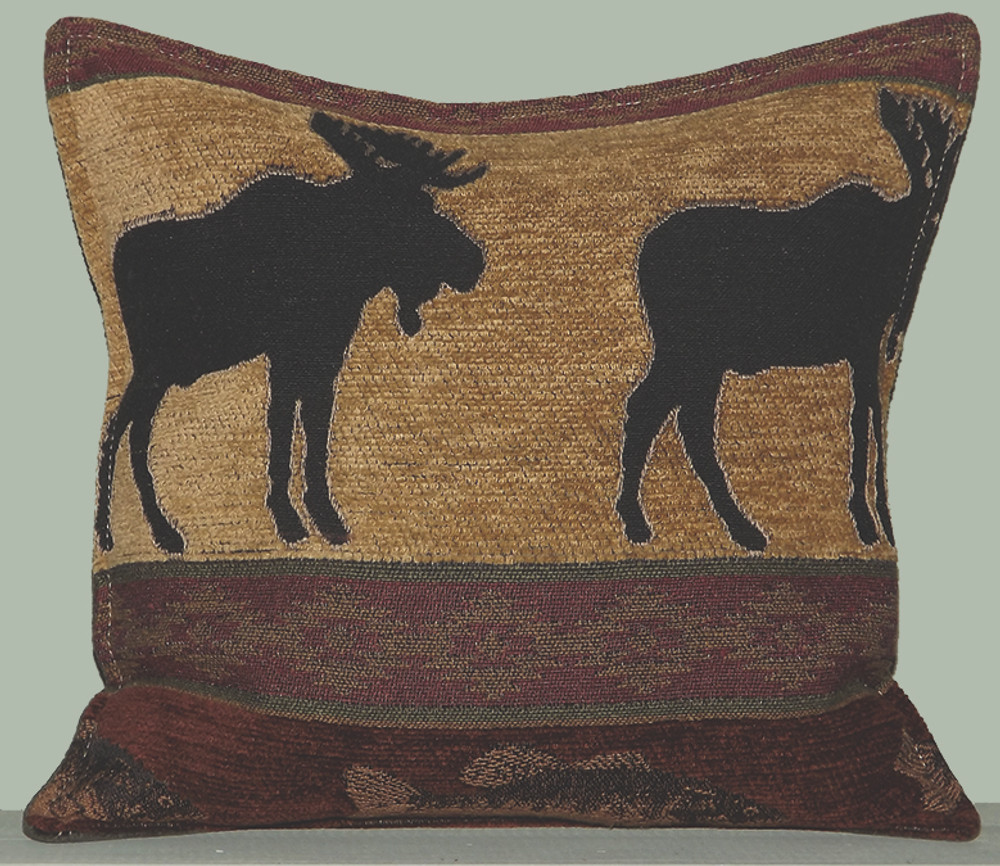 Moose with Fish Balsam Filled Pillow