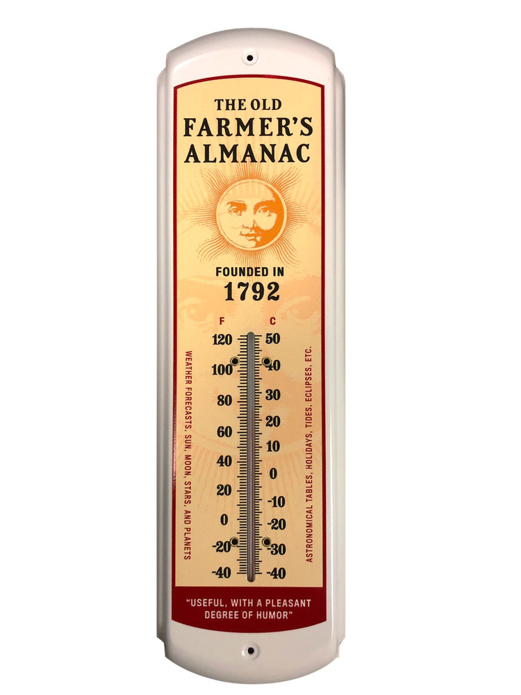 Almanac Retro Advertising Thermometer