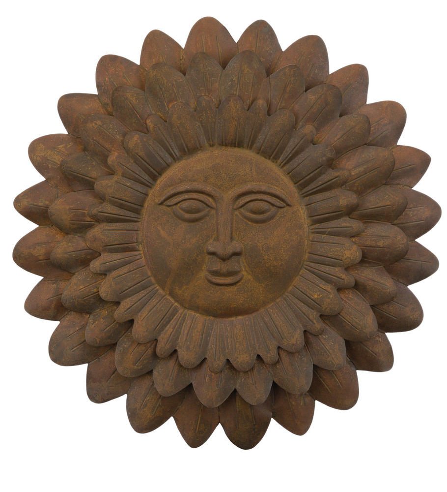 luxury metal wall art and hanging ceramic outdoor arts decor face sun large moon