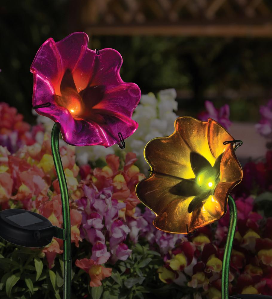 Mini Solar Poppy Stake - Fuchsia