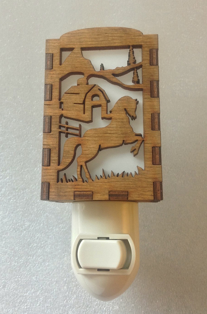 Village Craftsman Wooden Night Lights - Horse