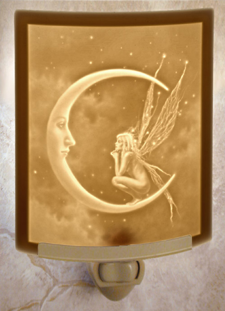 Lithophane Night Light - Fairy Moon