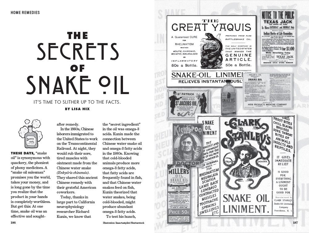Secrets of Snake Oil - Old Farmer's Almanac