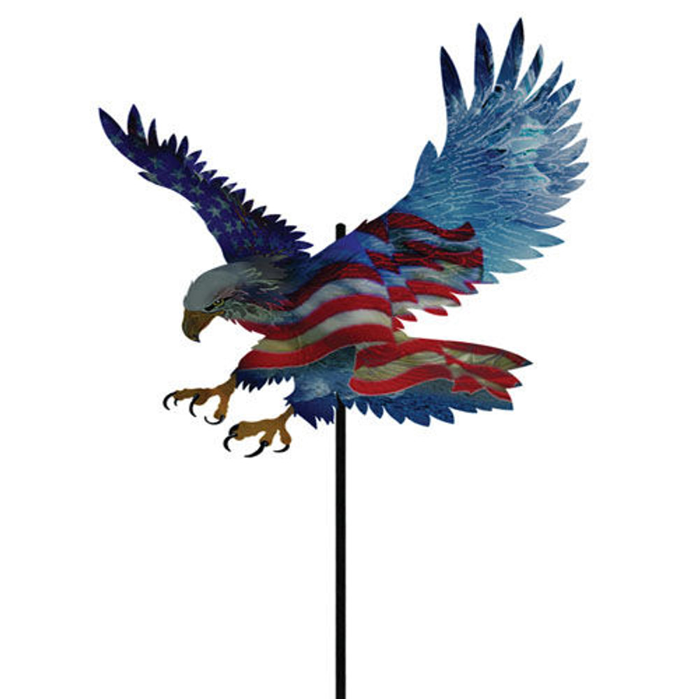 Color Infused Metal Garden Stake - Screaming Eagle
