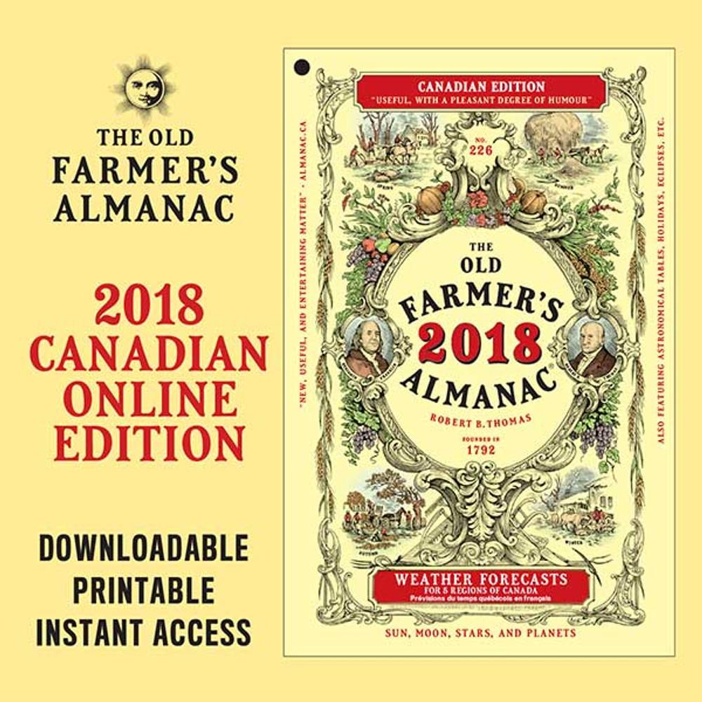 The 2018 Old Farmer's Almanac - Online Canadian Edition
