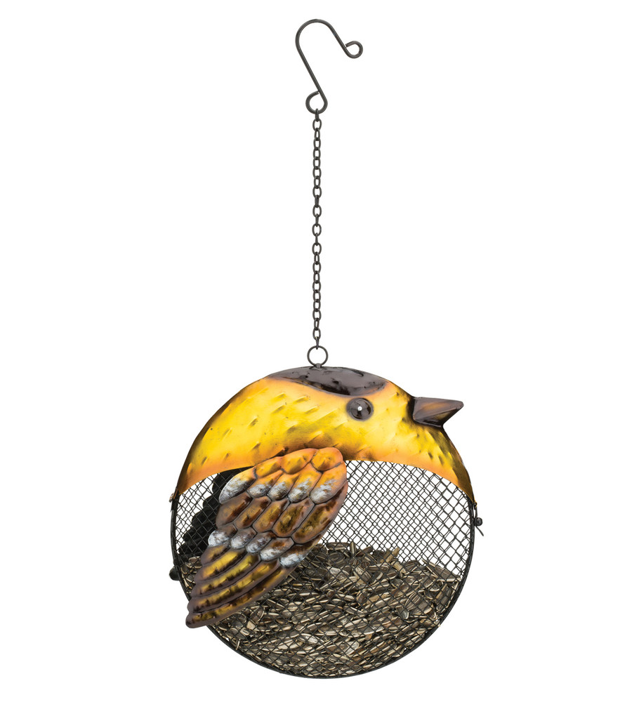 Fat Bird Seed Feeder - Goldfinch