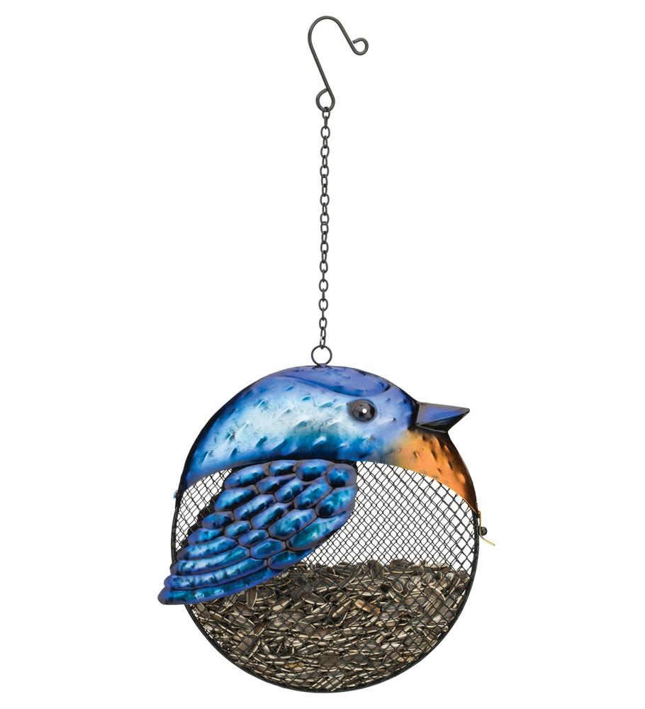 Fat Bird Seed Feeder - Blue  Bird