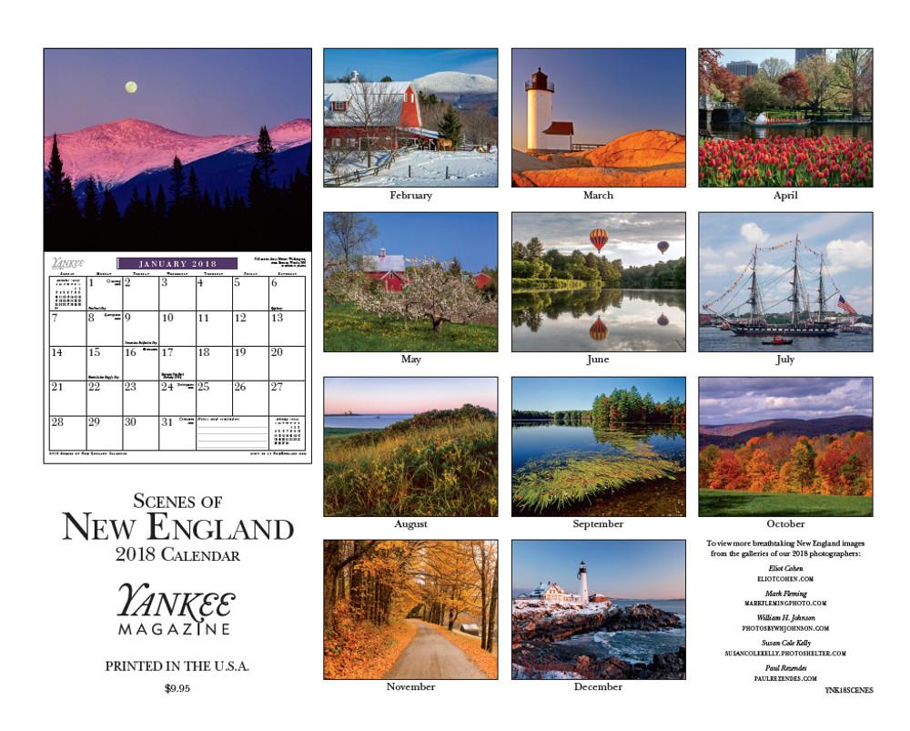 Scenes Of New England 2018 Calendar