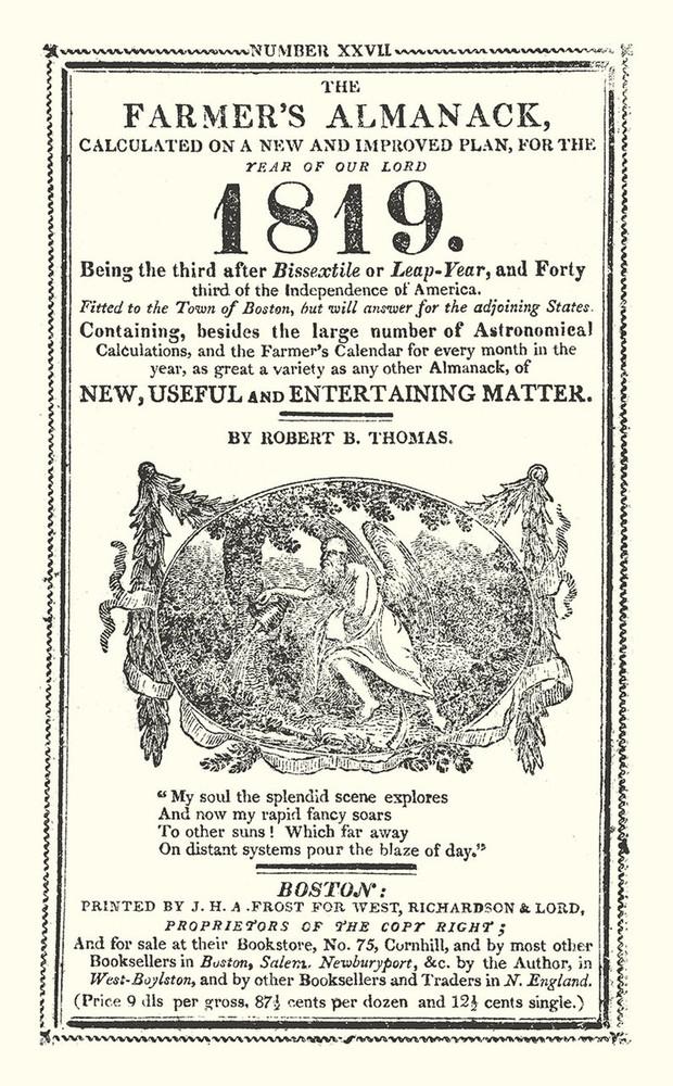 Free 1819 Replica Almanac