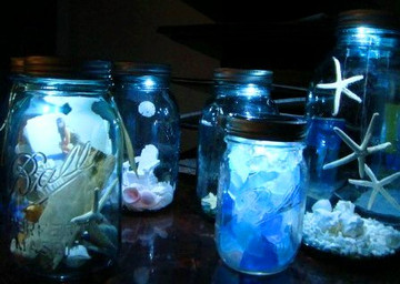 Moon Shiner Mason Jar Lid Centerpieces
