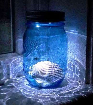 Moon Shiner Mason Jar Lid Light