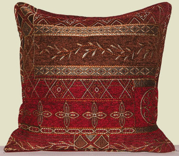 Red Albany Tapestry Balsam Filled Pillow