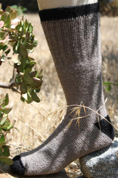 Alpaca Fleece Outdoor Adventure Socks - Cocoa Brown