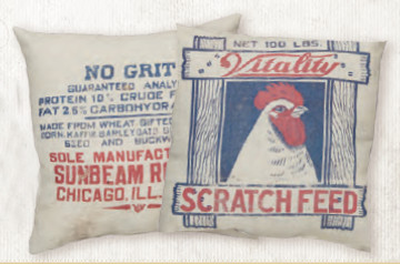 Feed Sack Pillow - Scratch Feed
