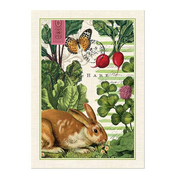 Garden Bunny Kitchen Towel