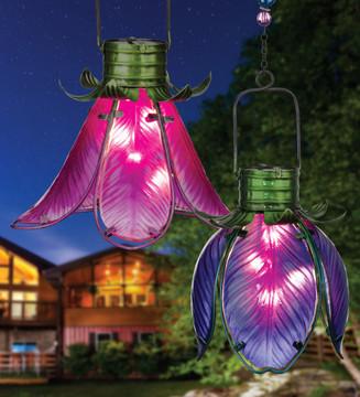 Solar Flower Lantern - Pink Lily