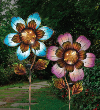 Solar Giant Flower Stake - Purple