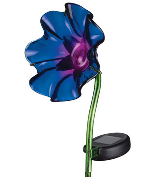 Mini Solar Poppy Stake - Purple