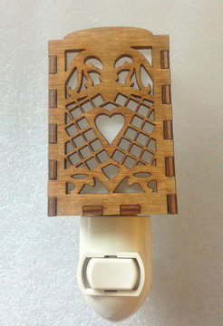 Village Craftsman Wooden Night Lights - Victorian Hearts