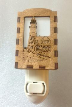 Village Craftsman Wooden Night Lights - Portland Head Lighthouse