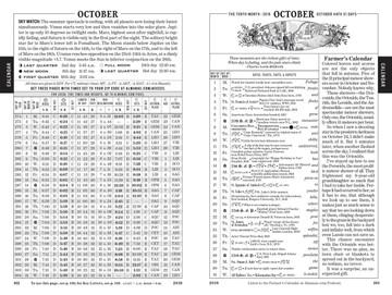 Calendar Pages - Old Farmer's Almanac