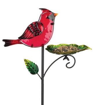 Bird Feeder Stake - Cardinal