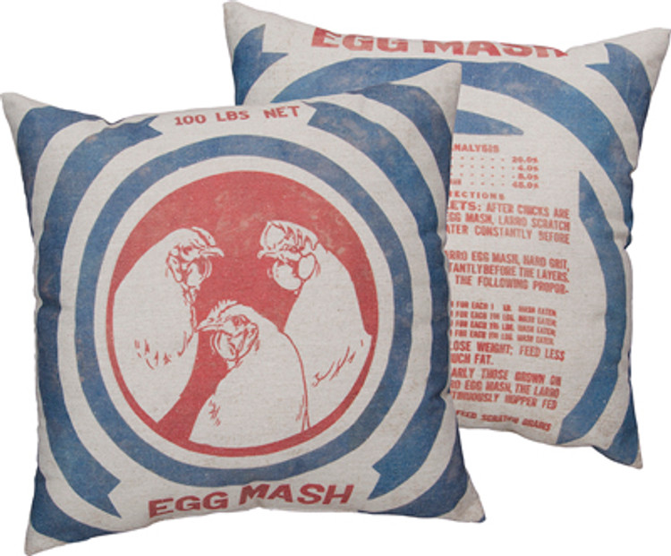 Feed Sack Pillow - Egg Mash