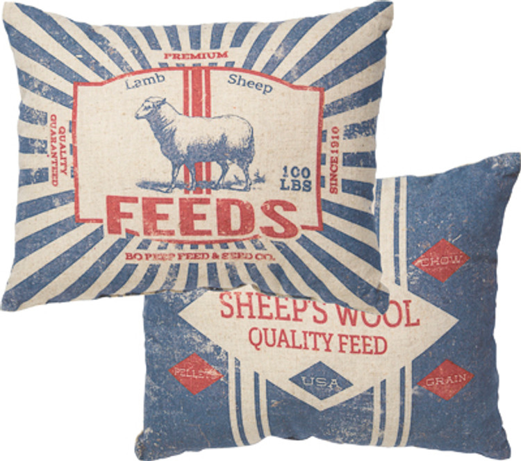Feed Sack Pillow - Premium Feeds