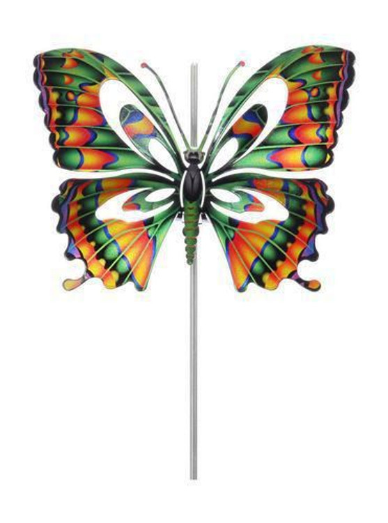 Color Infused Metal Garden Stake - Butterfly