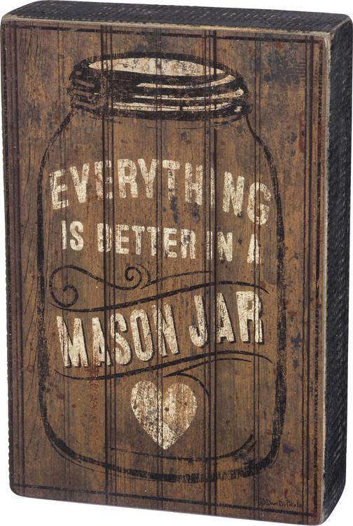 Box Sign - Mason Jar