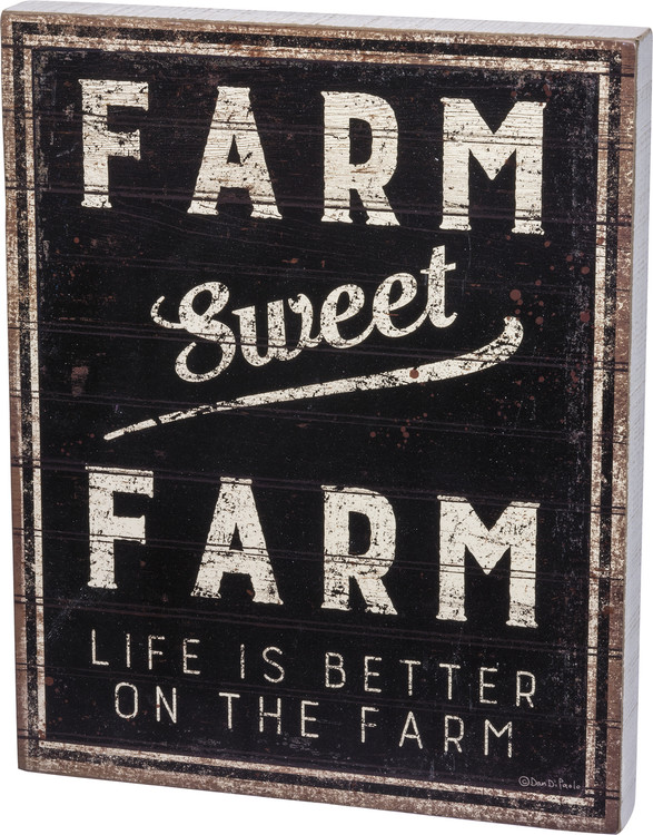 Box Sign - Farm Sweet Farm