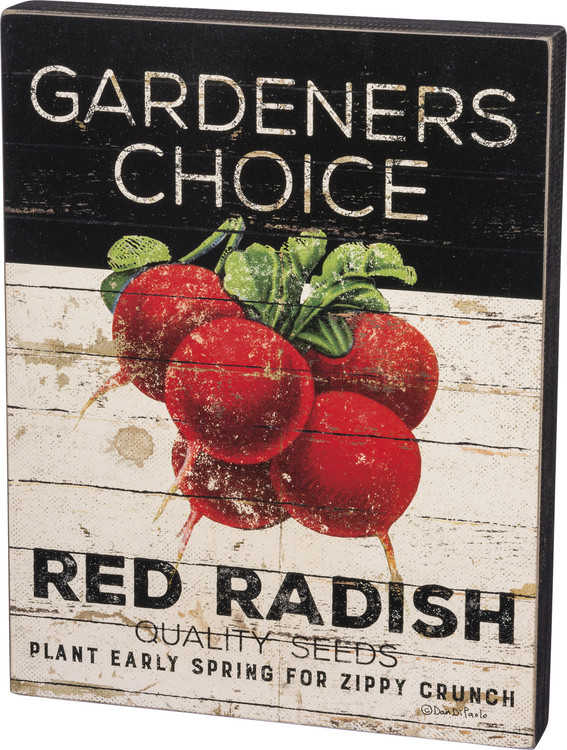 Box Sign - Red Radish