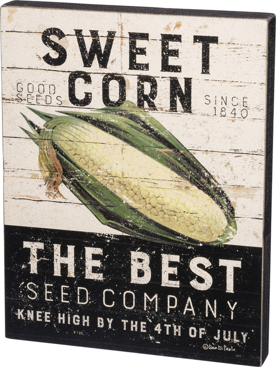 Box Sign - Sweet Corn