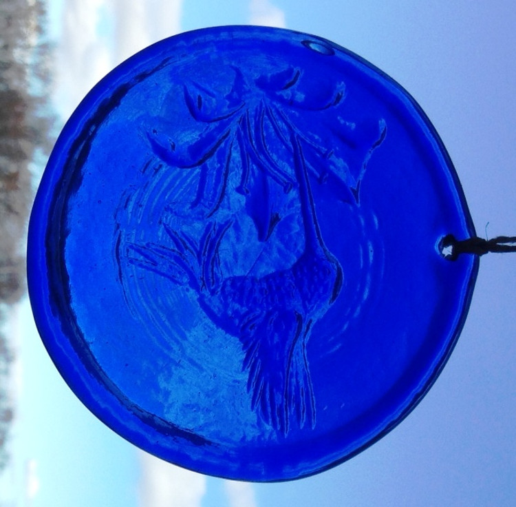 Hummingbird Large Suncatcher (blue)
