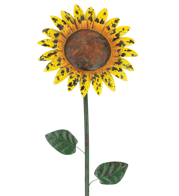 "Rustic Flower Stake 46"" - Sunflower"