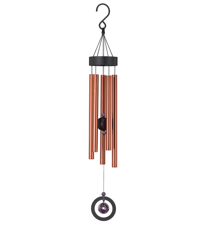 "Healing Stone Wind Chime 32"" - Amethyst"