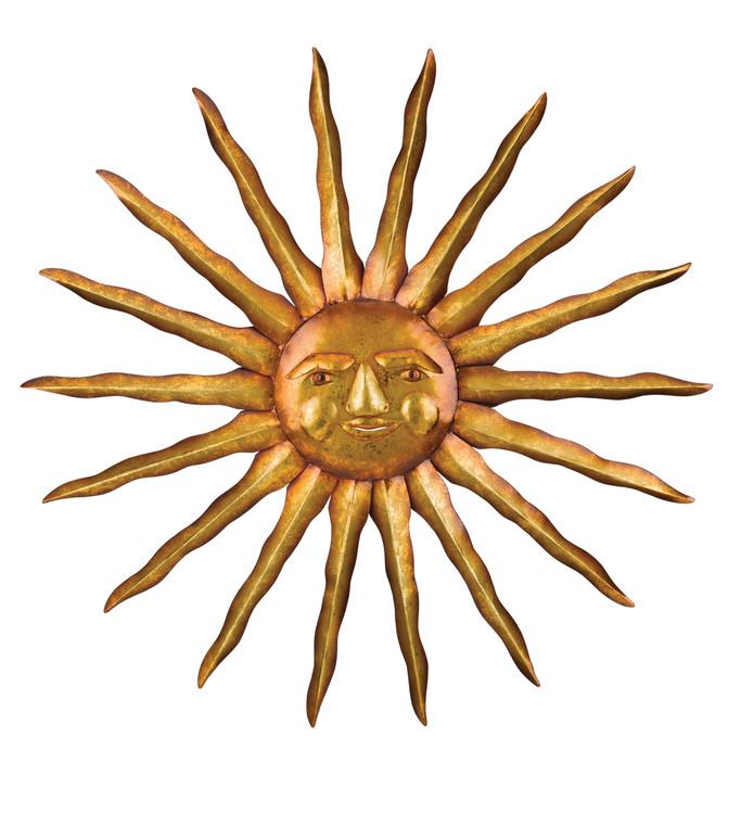 "31"" Golden Sun Wall Decor"