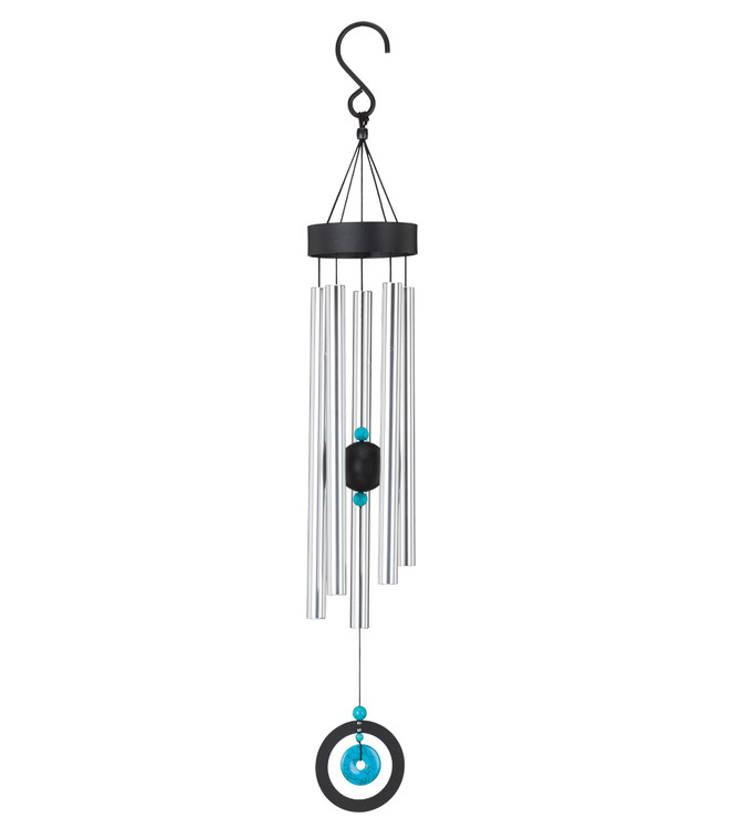 "Healing Stone Wind Chime 32"" - Turquoise"