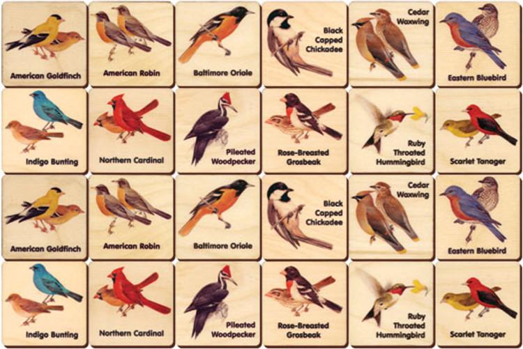 Backyard Birds Memory Tiles