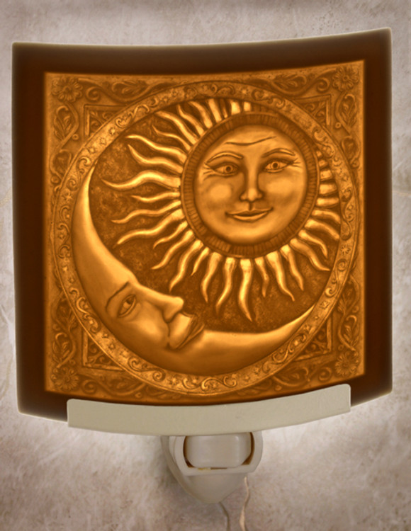 Lithophane Night Light - Sun & The Moon