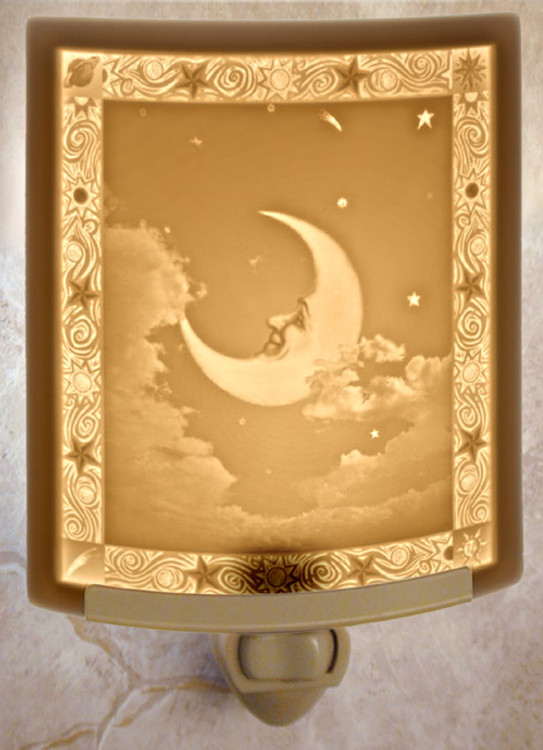 Lithophane Night Light - Man In The Moon