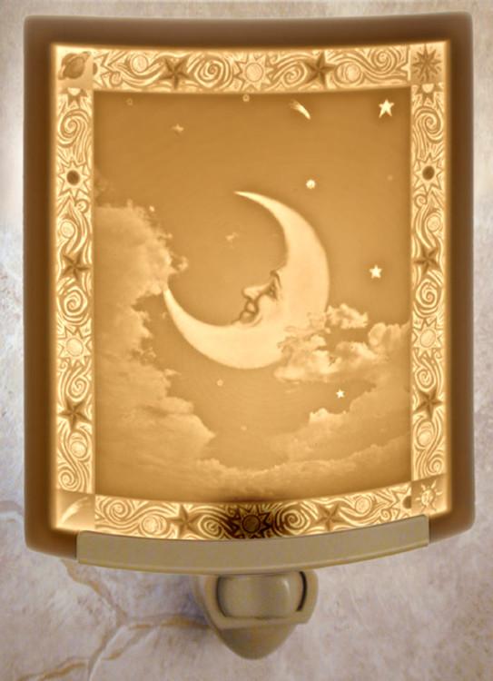 Lithophane Night Light - Man In The Moon