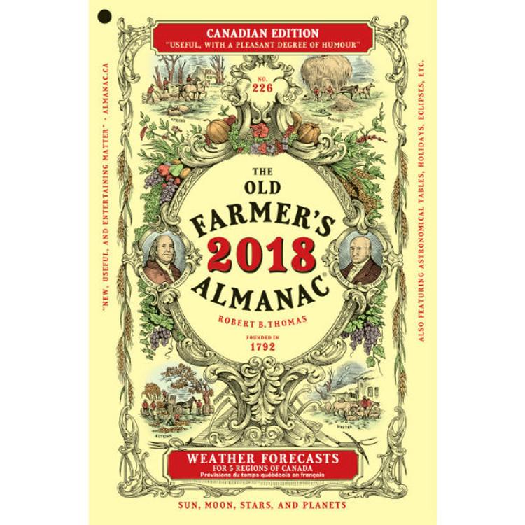 2018 Farmer's Almanac - Canadian Edition