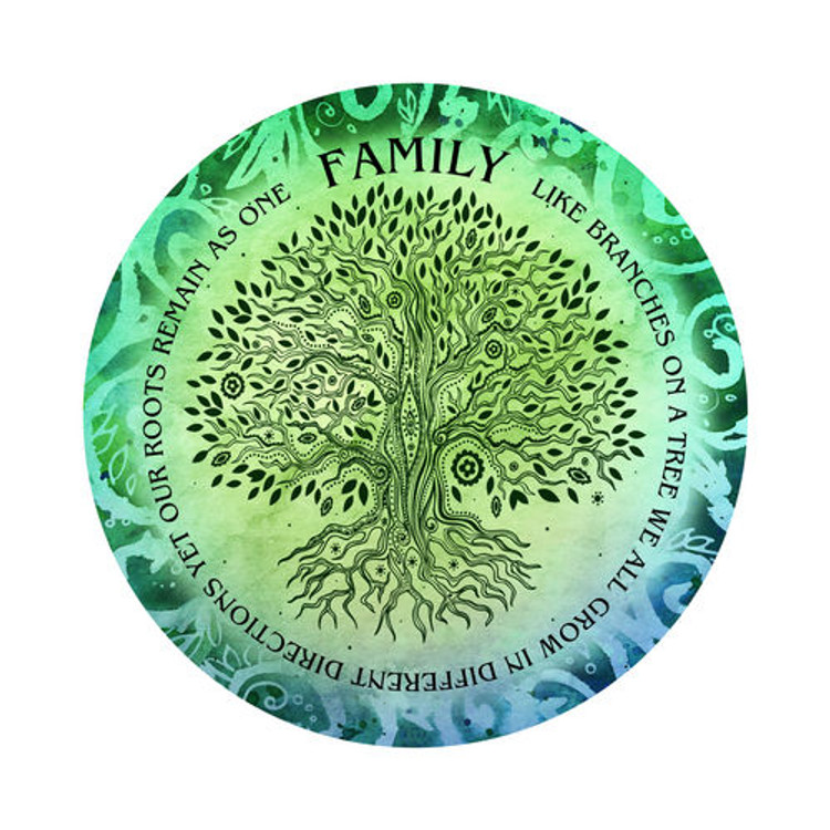 Family Roots - 3D Light Reflective Wall Art