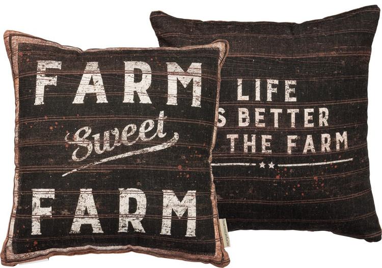 Feed Sack Pillow - Sweet Farm